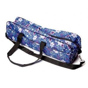 Сумка для коврика гаруда-цветы, синяя RamaYoga (Рамайога) - Сумки для ковриков