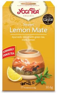 Yogi tea sweet lemon mate мате и сладкий лимон био  Yogi Tea