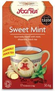 Yogi tea sweet mint  сладкая мята био  Yogi TeaАюрведические чаи Yogi Tea<br>Волшебная смесь невесомости перечной мяты, богатства черного чая и <br>пикантности ягод китайского лимонника поддержит жизненный тонус до <br>полноценного приёма пищи.<br>