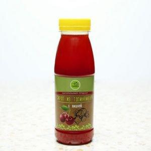 Натуральный сироп из топинамбура без сахара с вишней Дары Памира, 330 г. - Полезные сладости