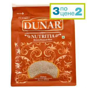 Акция! рис басмати бурый нешлифованный dunar nutritia  Dunar (Дунар),  1кг. от Ayurveda-shop.ru