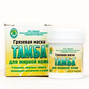 Грязевая маска для жирной кожи (тамба), 50 г.Маски для лица<br>Очищение, здоровье, защита, ликвидация воспаления и угрей.<br>