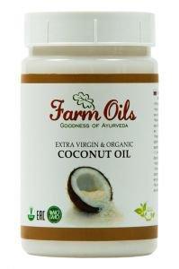 Органическое кокосовое масло extra virgin пищевое Farm Oils, 250 мл