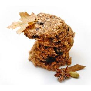 Печенье как бы овсяное с изюмом  Vegan Food,  100 г.Хлебцы и печенья ручной работы<br>Ароматное, сладкое, так похожее на знакомое с детства овсяное печенье! И только из живых продуктов!<br>