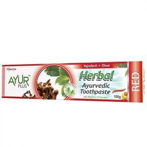 Травяная зубная паста камфорное масло-гвоздичное масло аюр плюс herbal a  Ayur Plus (Аюр Плюс)