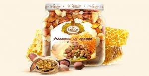 Ассорти из орехов в меду Te Gusto, 300 г. - Полезные сладости