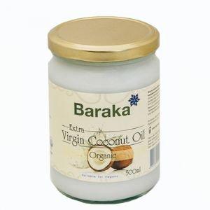 Масло кокосовое baraka барака, вирджин органик пищевое, нерафинированное в стеклянной банке Baraka (Барака), 500 мл. - Кокосовое масло