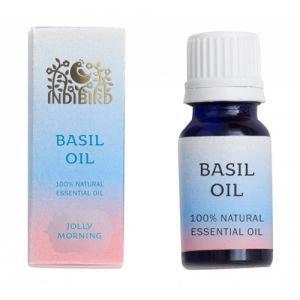 Amritha Масло эфирное базилик basil oil indibird  ,  5 мл.