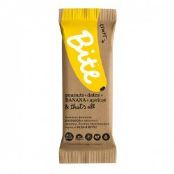 Bite Батончик  спорт банан-арахис-финик  ,  45 г.