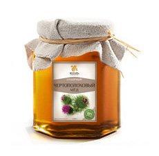 Мёд чертополоховый Мед Янтарь, 250 г. - Натуральный мед
