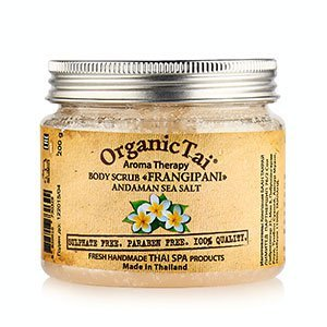 Скраб для тела на основе соли андаманского моря франжипани Organic Tai, 200 г