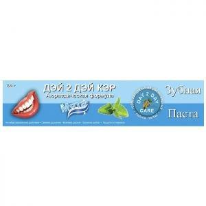 Зубная паста дэй ту дэй кэр мята day 2 day care toothpaste mint Day 2 Day Care (Дэй ту Дэй Кэр), 100 гр. - Уход за полостью рта
