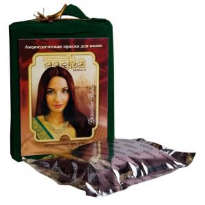 Аюрведическая лечебная краска для волос,  100 г.,  вишневое вино  Aasha herbals
