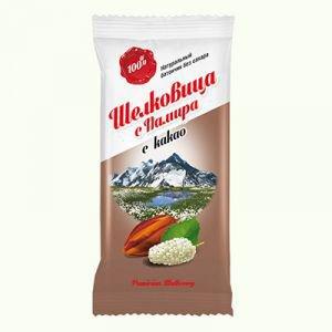 Натуральный фруктовый батончик из ягод шелковицы с какао Дары Памира, 20 г. - Полезные сладости