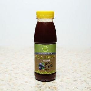Натуральный сироп из топинамбура без сахара с черникой Дары Памира, 330 г. - Полезные сладости