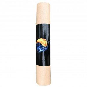 Коврик для йоги yin-yang studio om 185см х 60см х 4 RamaYoga (Рамайога), 5мм. - Средние коврики (4-5 мм.)