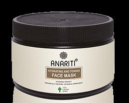 Увлажняющая и тонизирующая маска для лица, шеи и декольте с маслом зародышей пшеницы, экстрактами лохры и алое вера Anariti, 100 мл