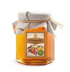 Мёд горный Мед Янтарь, 250 г. - Натуральный мед