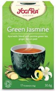 Yogi tea green jasmine зеленый чай с жасмином и имбирем Yogi Tea (Йоги Ти) - Аюрведический чай Yogi Tea