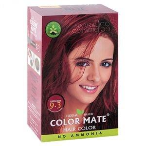 Натуральная краска для волос на основе хны color mate 9.3,  бургунд,  без амиака 75 г.