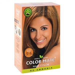 Натуральная краска для волос на основе хны color mate 9.4,  золотисто-коричневый,  без амиака 75 г.