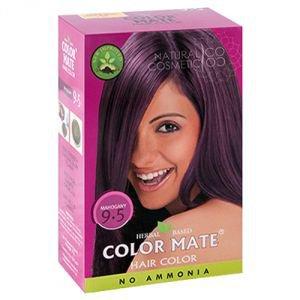 Купить со скидкой Натуральная краска для волос на основе хны color mate 9.5,  махагони,  без амиака 75 г.  Color Mate