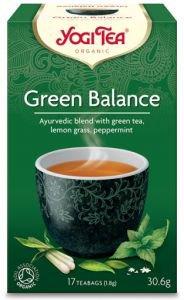 Yogi tea green balance зеленый чай с комбучей  Yogi Tea