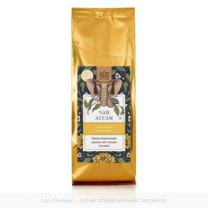 Чай чёрный мелколистовой резаный с типсами assam gbop black tea Золото Индии, 100 г. - Травяные чаи, напитки