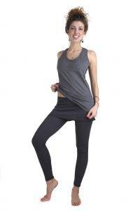 Майка антрацит Савасана - Одежда для йоги