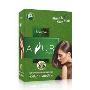 Натуральная индийская хна с травами аюр плюс ayur plus  Ayur Plus (Аюр Плюс),  50 г.