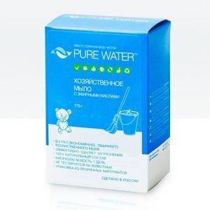 Хозяйственное мыло pure water™ с эфирными маслами Pure Water (Пьюр Ватер), 175 г. - Очистители и универсальные моющие средства