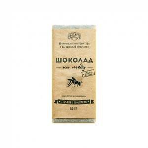 Горький шоколад на меду, 70 % Экотопия, 50 г. - Полезные сладости