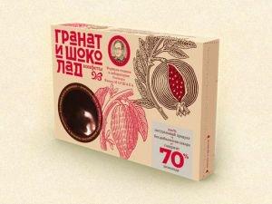 Шоколадно-гранатовые конфеты конфеты якова маршака Живая Еда, 90 г. - Полезные сладости