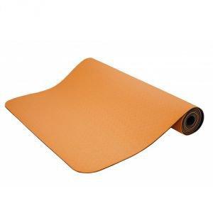 Коврик для йоги shakti шакти, оранжево-черный Йогин - Тонкие коврики (3-4 мм.)