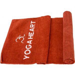 Коврик бордовый для йоги 100% хлопок yoga heart, 60х190 см, в чехле Amritha (Амрита) - Эко-коврики (natural)