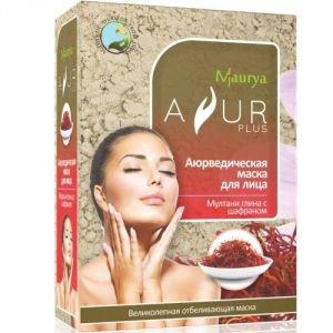 Маска косметическая для лица мултани глина и шафран аюр плюс Ayur Plus (Аюр Плюс), 100 г