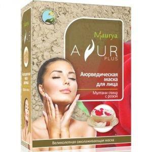 Маска косметическая для лица мултани глина и роза аюр плюс Ayur Plus (Аюр Плюс), 100 г