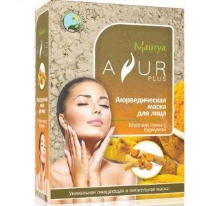 Маска косметическая для лица мултани глина и куркума аюр плюс Ayur Plus (Аюр Плюс), 100 г