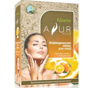 Ayur Plus Маска косметическая для лица мултани глина и апельсин аюр плюс  ,  100 г.
