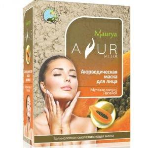 Маска косметическая для лица мултани глина и папайя аюр плюс Ayur Plus (Аюр Плюс), 100 г