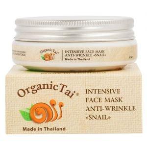Маска для лица интенсивная против морщин с экстрактом улитки органик тай intensive face mask anti-wrinkle snail organic tai  ,  50 мл.