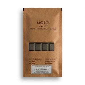 Шоколад белый с черным кунжутом black sesame moj MOJO Cacao (Моджо Какао) - Полезные сладости