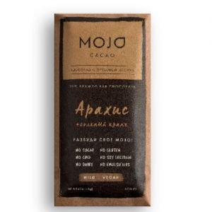 Шоколад горький 72% арахис и соленый кранч MOJO Cacao (Моджо Какао) - Полезные сладости