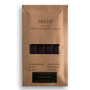 Шоколад горький 70% black truffle с черным трюфелем, морской сол MOJO Cacao (Моджо Какао) - Полезные сладости