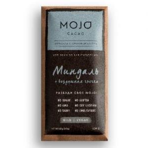 Шоколад горький 72% миндаль и воздушная гречк MOJO Cacao (Моджо Какао) - Полезные сладости