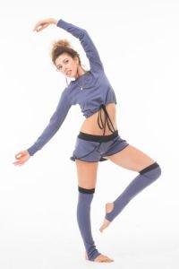Кофта с затяжкой темно-серая Савасана - Одежда для йоги