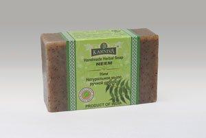 Натуральное мыло ручной работы «ним» (karniva), 100 г.Karniva<br>Препятствует появлению угрей и прыщей, выводит лишний жир, уменьшает чрезмерное потоотделение и неприятный запах, избавляет от грибковых заболеваний.<br>