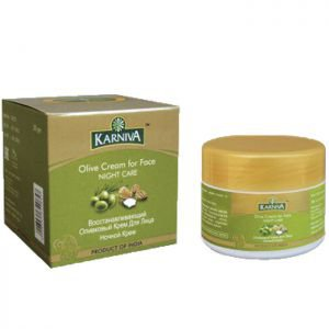 Ночной восстанавливающий оливковый крем для лица карнива olive cream for face night care karniva Karniva (Карнива), 50 г. - Уход за лицом