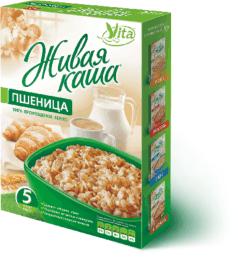 Живая каша vita пшеница Всем на пользу (vsemnapolzu), 300 г. - Каши, крупы, мука