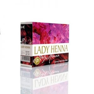 Краска для волос на основе хны lady henna,  6 х 10 г.,  бургунд  Aasha herbals